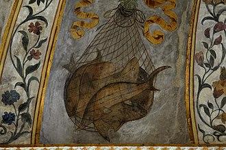 Palazzo Grimani di Santa Maria Formosa - Camillo Mantovano, ceiling of the Dining room (part.)