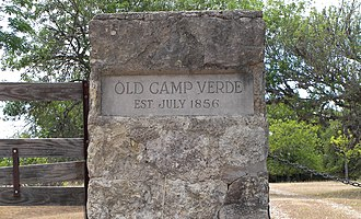 Old Camp Verde - Image: Camp verde sign 2009