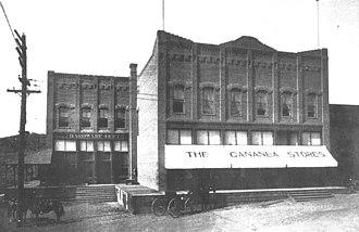 Cananea strike - The company store in Cananea.