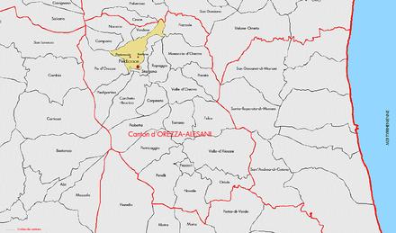Carte Corse Orezza.Piedicroce Wikipedia