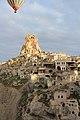 Cappadocia balloon trip, Ortahisar Castle (11894884396).jpg