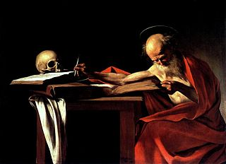 Saint Jerome Writing - Caravaggio 1605-1606