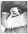 Caricatures of the Stage - Richard Mansfield as Cyrano de Bergerac.jpg