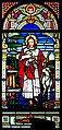 Carl Huneke's stained glass window - The Good Shepherd at Sisters of the Holy Family Motherhouse, Fremont, CA.jpg