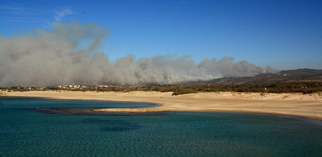 Carmel Fire Smoke Dor-HaBonim 031210.jpg