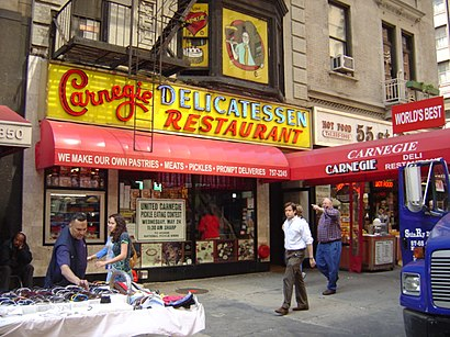 How to get to Carnegie Deli with public transit - About the place