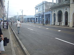 "The central avenue ""Carrer José Martí"""