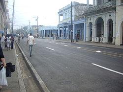"""La centra avenuo """"Carrer José Martí"""""""