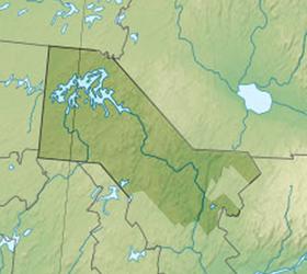Voir la carte administrative de la zone La Tuque