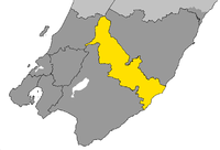 Location of Carterton District within Wellington Region