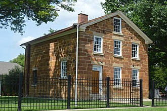 National Register of Historic Places listings in Hancock County, Illinois - Image: Carthage Jail from southwest