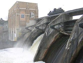 Thornapple River - Cascade Dam from downstream