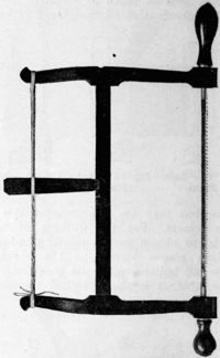 Fig. 80. — Bow or Frame Saw.