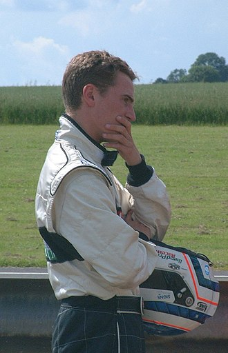 Robbie Kerr - Kerr after crashing out of an F3 race at Castle Combe in 2002.