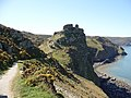 Castle Rock from coastal footpath - geograph.org.uk - 429795.jpg