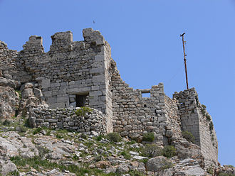 Tilos - Ruins of the medieval castle in Megalo Chorio