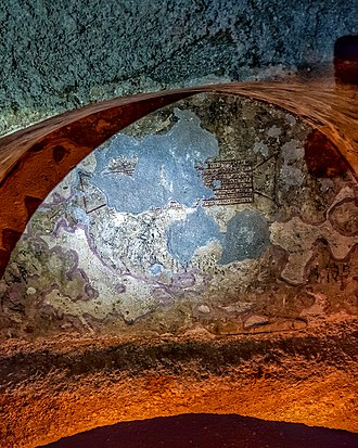 Catacombs of Milos - An inscription on a tomb