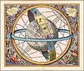 Celestial chart by Andreas Cellarius - Situs Terrae Circulis Coelestibus Circundatae.jpg