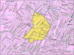 Census Bureau Map Of East Orange New Jersey