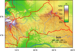 Geography of the Central African Republic - Topography of Central African Republic.