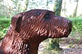 Cerflun Ci Portmeirion Carving of a Dog - geograph.org.uk - 708516.jpg