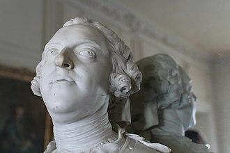 Jean-Baptiste Lemoyne - Image: Château de Versailles, appartements du Dauphin et de la Dauphine, seconde antichambre du Dauphin, buste de Louis XV, Jean Baptiste II Lemoyne (1749) 03