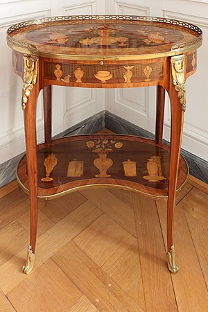 Pierre Macret - Small oval table volante by Macret and Charles Topino (Versailles)