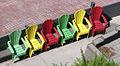 Chaises colorées vue de l'escalier du Faubourg.jpg