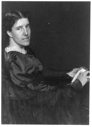 Charlotte Perkins Gilman - Charlotte Perkins Gilman Photograph by Frances Benjamin Johnston (ca. 1900).