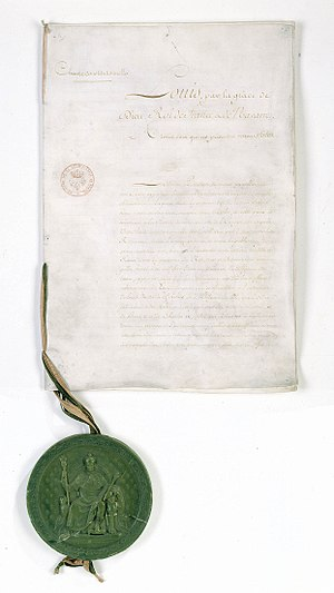 Charter of 1814 - Charter of 1814.