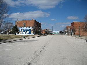 Chenoa, Illinois - Downtown Chenoa, Illinois in mid-March 2007.