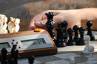 Game mechanics - A chess clock can be used to measure and limit the time taken by each player in a turn-based game