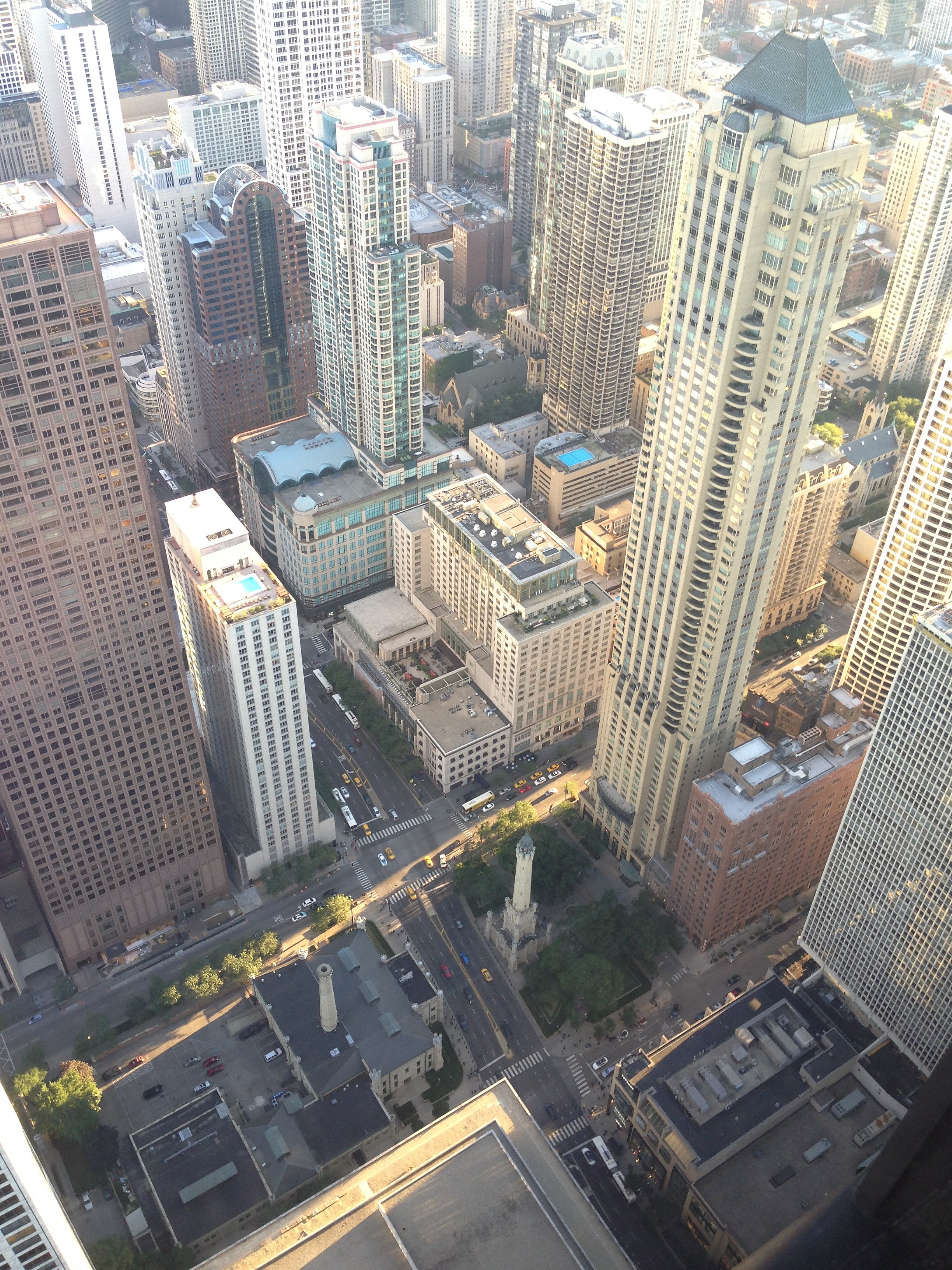 FileChicago Water Tower as seen from the John Hancock tower