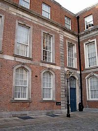 The Chief Secretary's office in Dublin Castle.The Chief Secretary's residence was in the Chief Secretary's Lodge in the Phoenix Park, next door to the Viceregal Lodge.