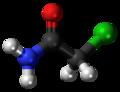 Chloroacetamide molecule ball.png