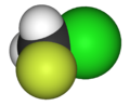 Chlorofluoromethane-3D-vdW.png