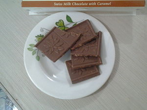 Swiss chocolate - An example of a Swiss chocolate from the Chocolat de Villars' Swiss Chocolates