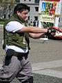 Chris Redfield cosplayer at NCCBF 2010-04-18 2.JPG