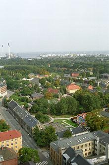Christiania en el centro de la foto.