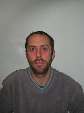 Chris Atkins (filmmaker) - Mugshot of Atkins distributed after he was jailed for theft of public money and fraud