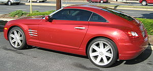 "Chrysler Crossfire - The ""crossfire"" character lines of the bodyside change direction of their creases on the door"