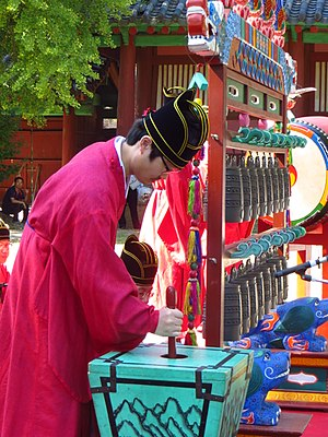 Chuk (instrument) - chuk, Korean traditional instrument used in court and ritual music