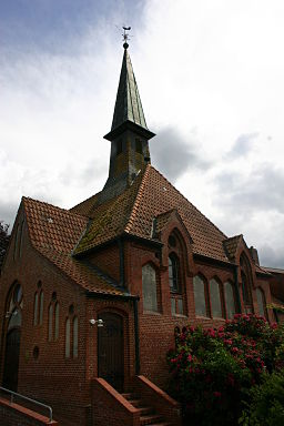 Historic Church of the Cross in Marcardsmoor, district of Aurich, East Frisia, Germany