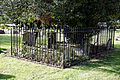 Church of St Mary and St Christopher, Panfield - churchyard monuments fenced.jpg