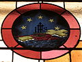 Church of the Atonement (Crooksville, Ohio) - stained glass, IHS, cross, crown of thorns, 5 stars.jpg