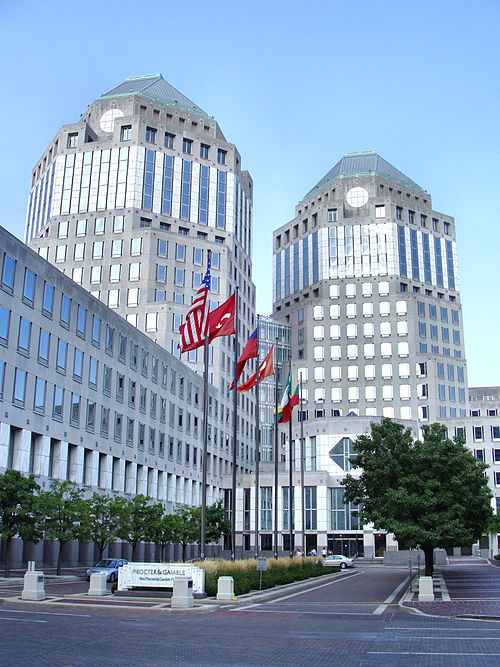 Cincinnati's Procter & Gamble is one of Ohio's largest companies in terms of revenue. Cincinnati-procter-and-gamble-headquarters.jpg