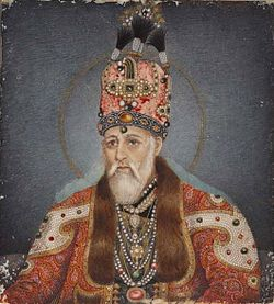 Circle of Ghulam Ali Khan Portrait painting of Akbar II ca 1827 ROM.jpg