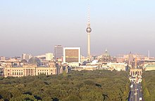 Vue panoramique du centre de Berlin