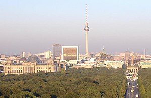 Berlin - view from Siegessäule with viewing di...