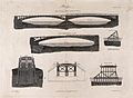 Civil engineering; elevations and sections of bridges. Engra Wellcome V0024342.jpg
